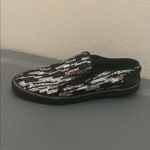 Women's vans silver slip in shoes size 7